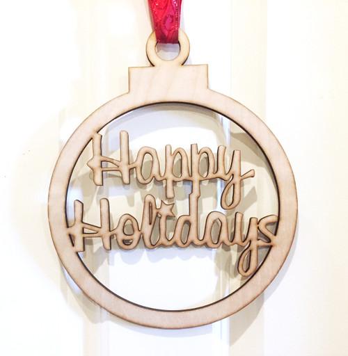 Happy Holidays Door Sign