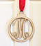 Monogram Christmas Bulb Door Sign