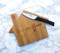 Engraved house shaped cutting board