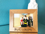 Personalized Engraved Wood 5x7 Picture Frame