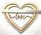Valentine's Love Wood Heart Door Sign
