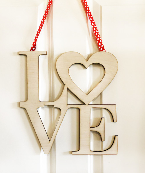 Love Wood Door Sign