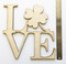 Shamrock love wood door sign