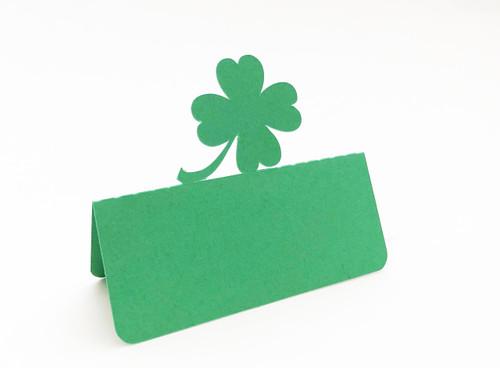 Shamrock place card - shown in green