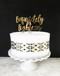 Exquisitely Eighteen Cake Topper - shown in gold mirror acrylic