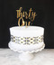 Thirty One Cake Topper - shown in gold mirror acrylic