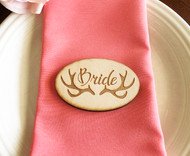 Antler oval engraved place cards