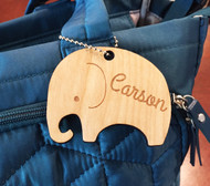 Personalized Elephant Diaper Bag Tag
