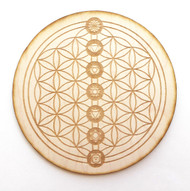 Flowers of Life with Chakras Grid