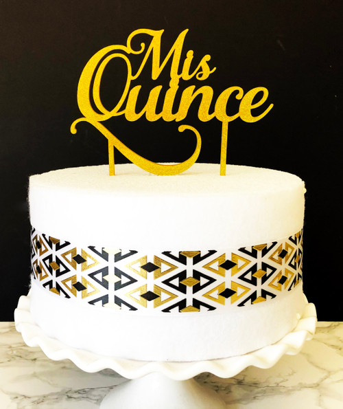 Mis Quince Cake Topper