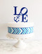 Love Anchor Philly Cake Topper