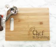 Chef in training cutting board