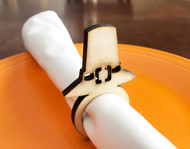 Pilgrim Hat Wood Napkin Rings