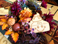 Pumpkin Pie Wood Personalized Place Cards