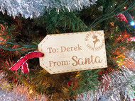 From Santa Personalized Wood XL Gift Tag