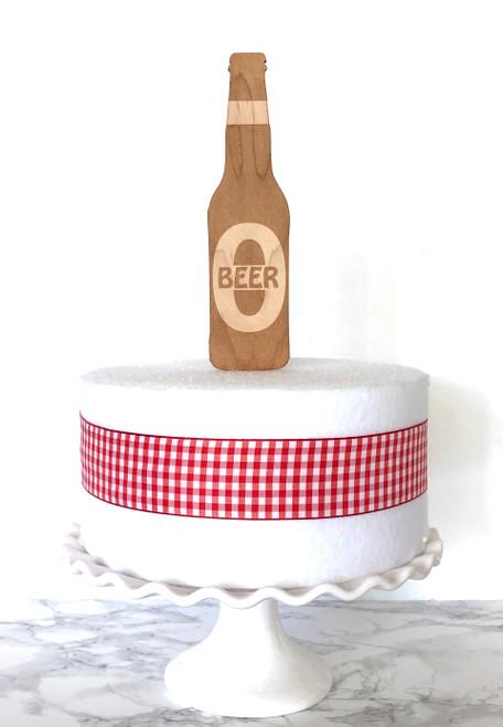 Beer Bottle Cake Topper