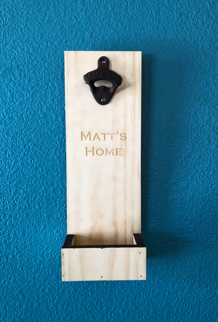 Personalized Wall Mounted Beer Bottle Opener