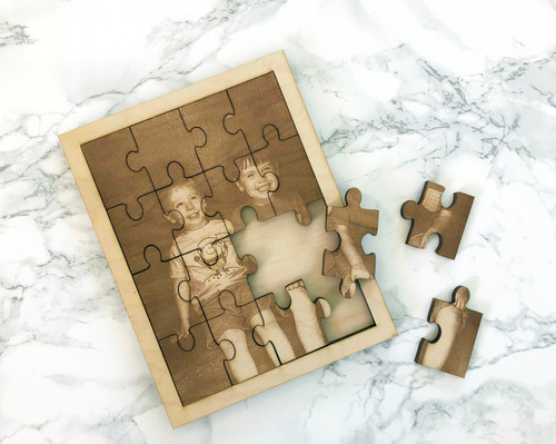 Keepsake Engraved Wood Puzzle Photo