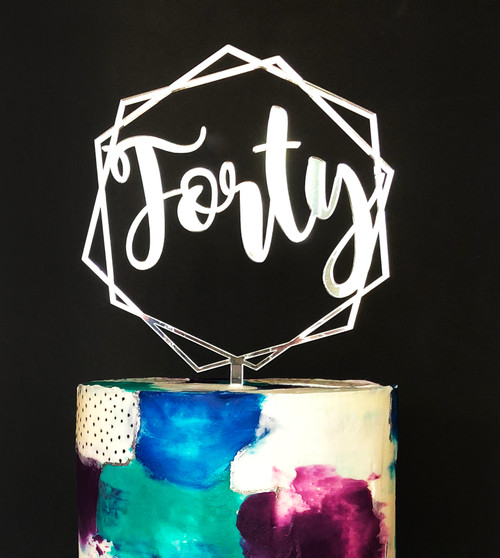 Forty Cake Topper