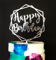 Happy Birthday Hexagon Cake Topper