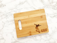 Skateboarder Personalized Name Cutting Board