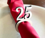 Number Wood Napkin Ring