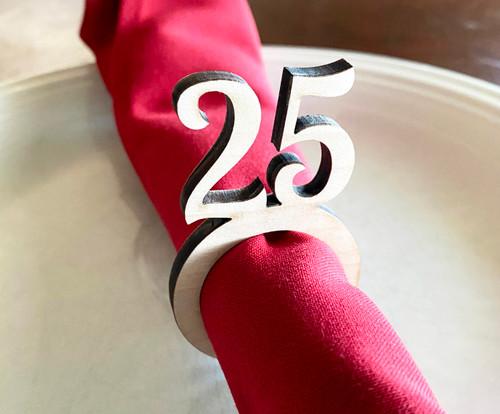 Number Wood Napkin Ring