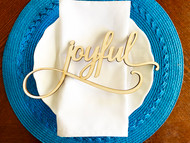 joyful place card