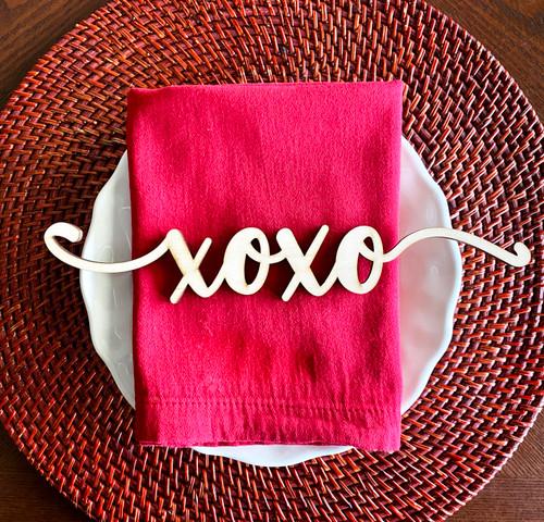 xoxo place card