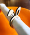 Easter Bunny Ears Wood Napkin Rings