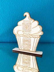 Scannable QR Code Cupcake Sign