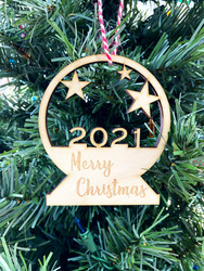 Snow Globe 2021 Ornament