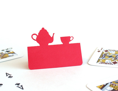 Tea party place card (playing cards not included)