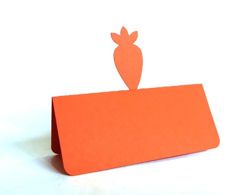 Carrot place card - orange