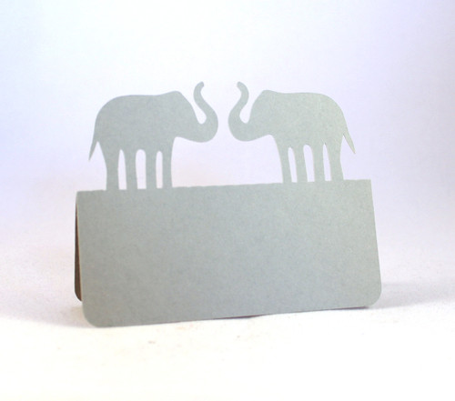 Elephants place card - shown in gray