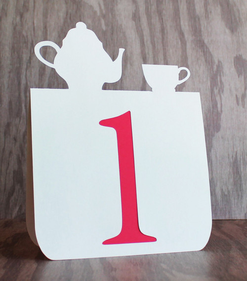 Tea party table number