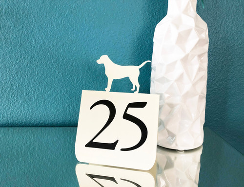 Dog table number