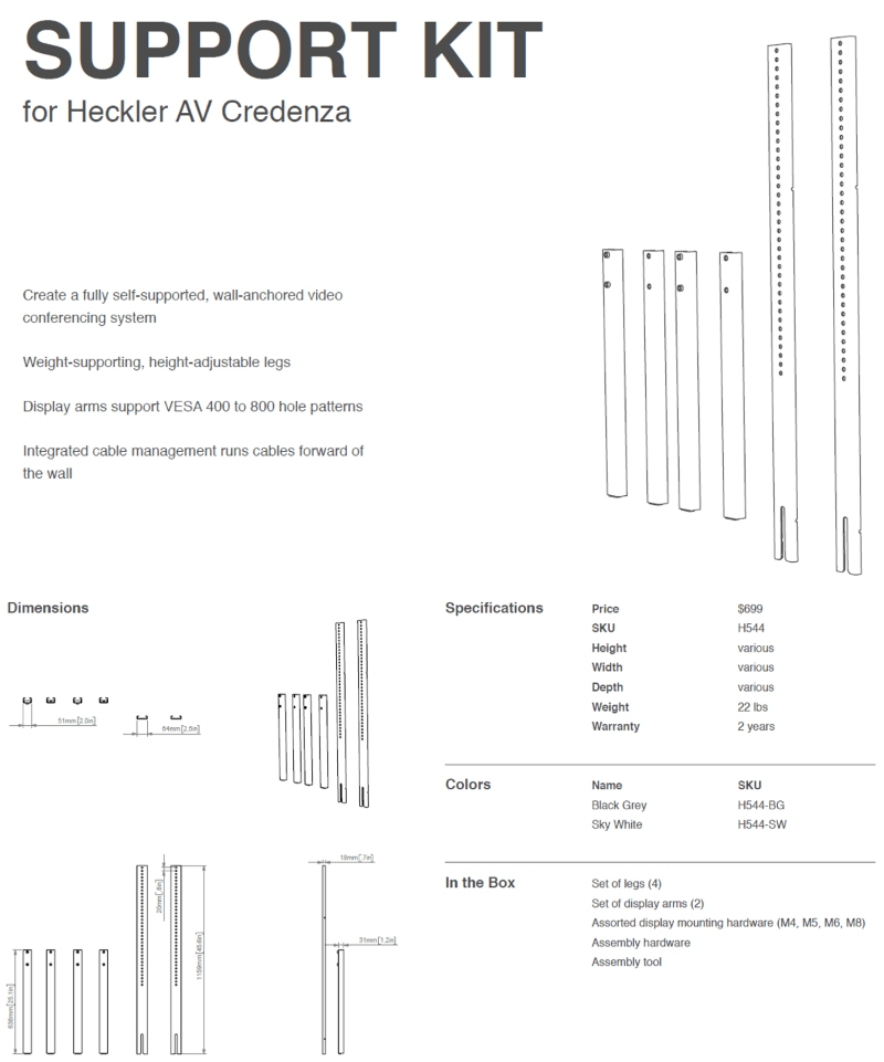 Heckler Design AV Credenza from VCGear.com