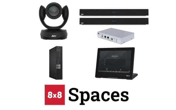 8x8 Spaces configured room kit