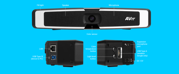 AVer VB130 All-in-One Video Soundbar for Zoom, Microsoft Teams and Google Meets