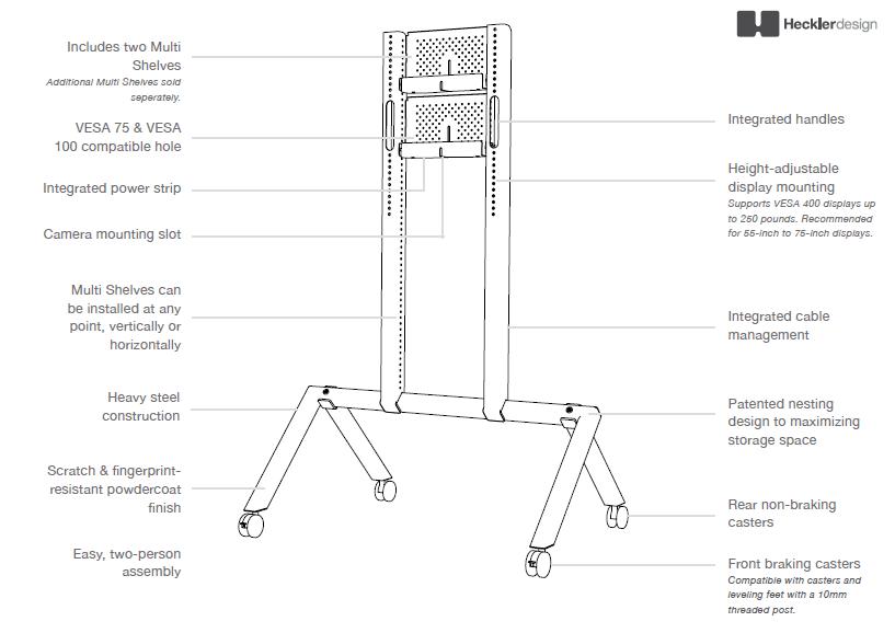 Heckler Design AV Cart Diagram