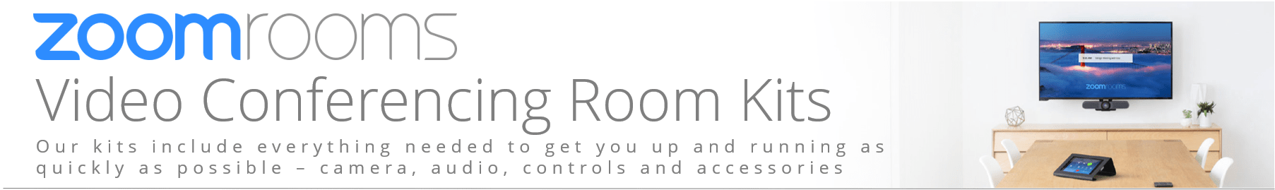 Zoom Rooms Kit feature Crestron and Logitech Rally
