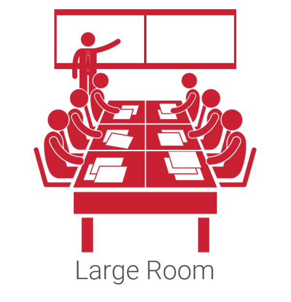 Large Conference Room and Classroom 8x8 Spaces Video Conferencing Room Kits from VideoConferenceGear.com