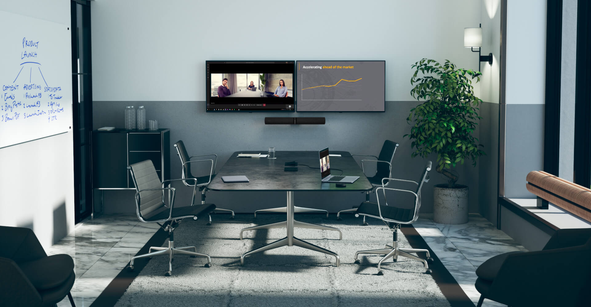 Jabra PanaCast 50 All-in-One Video Soundbar for Zoom, Microsoft Teams and Google Meets
