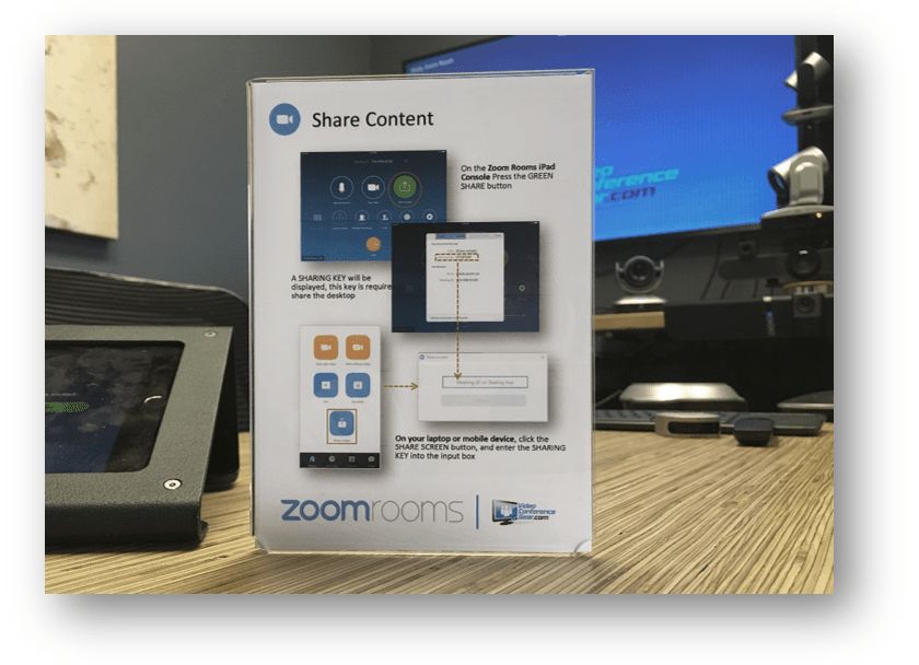 Zoom Rooms Schedule Display Kits from VCGear.com