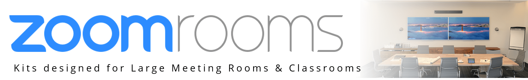 Zoom Rooms Board Rooms and Classroom kits from VCGear.com