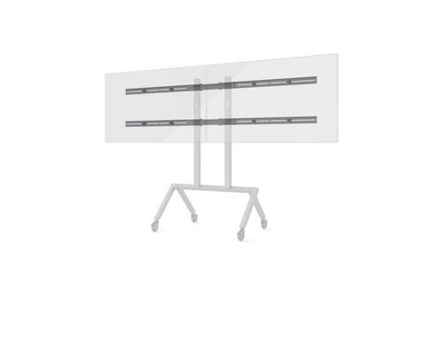 "Heckler H701 AV Cart Dual Display Add-on Kit for Displays up to 75"" - Black Grey"