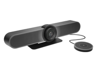 Logitech MeetUp 4K UtralHD Video Soundbar with Extension Tabletop Mic Perfect for Your Huddle Rooms and Conference Rooms (960-001201)