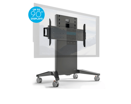 Salamander Extra Large Mobile Stand fixed height in graphite gray (FPS1XL/FH/GG)