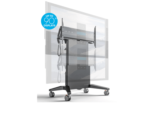 Salamander Extra Large Mobile Stand with lift in graphite gray (FPS1XL/EL/GG)